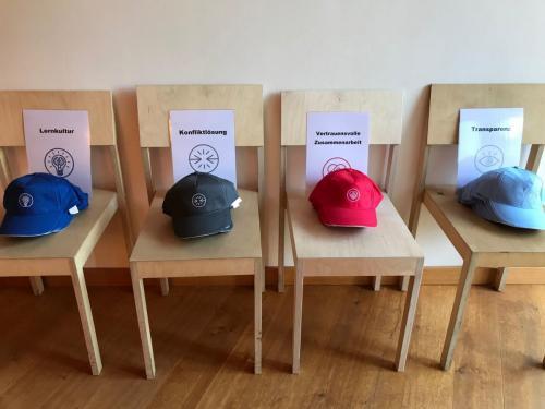 Innovative Formate_Jede Workshopgruppe hat für ein Thema den Hut auf - oder das Cappie
